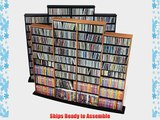Quad Media Tower holds 1520 CDs Oak