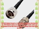 MPD Digital rg58-n-male-SO239-50FT RF Coaxial Cable N Male to UHF SO239 Female RG-58u MIL-C-17