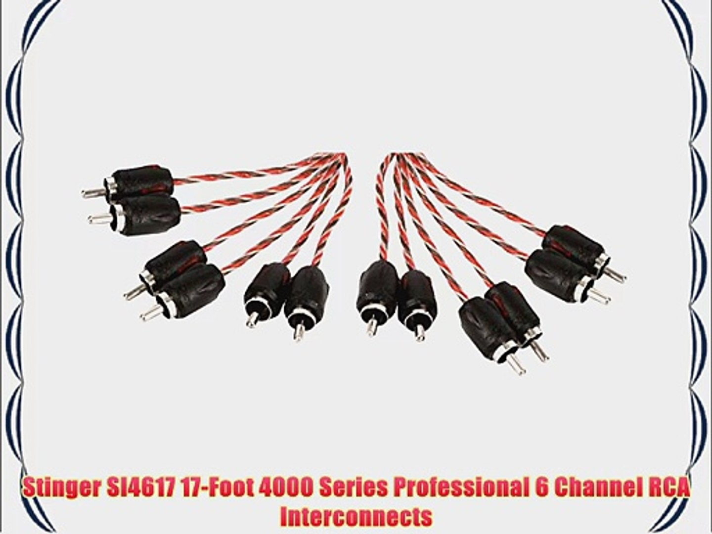 Stinger SI8220 Audio RCA Interconnect Cable 2 Channels 8000 Series 20 ft Stereo