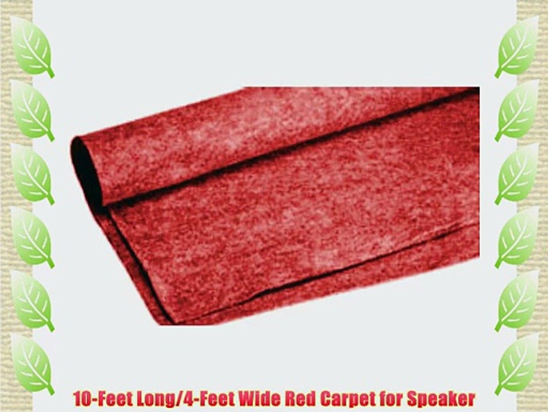 Absolute C10RD 10-Feet Long/4-Feet Wide Carpet for Speaker Sub Box RV Truck Car/Trunk Laner