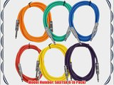 Seismic Audio SASTSX-6BGORYP 6-Feet TS 1/4-Inch Guitar Instrument or Patch Cable Colored