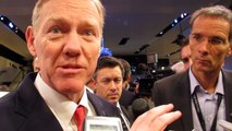 Ford CEO Alan Mulally with Reporters at NAIAS Detroit Auto Show --Bob Giles NewsCarNews.TV