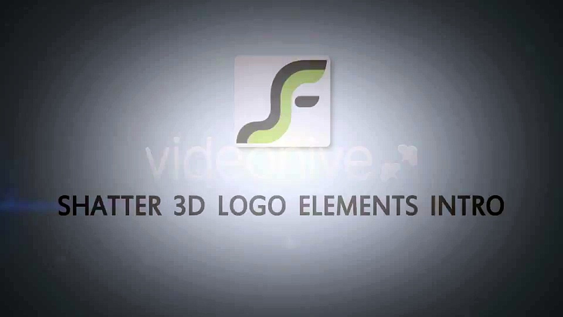 After Effects Project Files - Shatter 3D Logo Elements Intro - VideoHive 3620839
