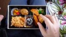 Japon 47: Comiendo de una caja en un tren Japonés