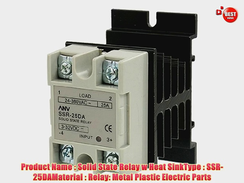 Solid State Relay SSR 40DA Input 3-32V//DC Load 24-480V//AC /& Heat Sink