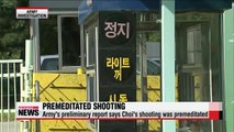 Korean army says shooting spree was premeditated