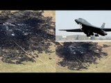 B-1 in action: Bomber crashes and burns, four passengers eject to safety