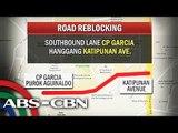 Mga kalsadang apektado ng road reblocking