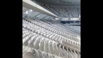 Visite du Nouveau stade de Bordeaux : pelouse et gradins
