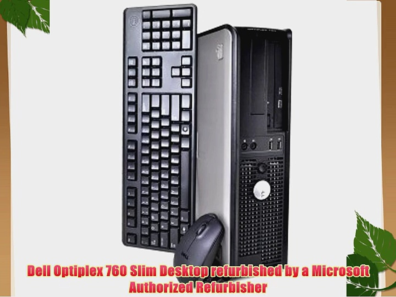 Dell Optiplex 760 Slim Desktop with Intel Core2Duo@2 80GHz