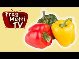 Paprika richtig schneiden - Frag Mutti TV