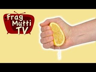 Zitrone auspressen ohne Spritzen - Frag Mutti TV