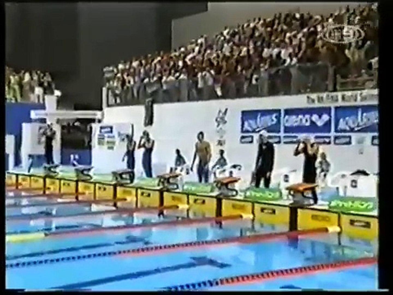 2001   Ian Thorpe   World Record   1.44.06   200m Freestyle   2001 World Champs