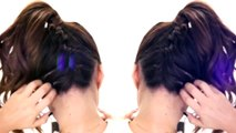 ★2 Cute BRAIDS BACK TO SCHOOL HAIRSTYLES   Braided Messy Bun Hairstyle