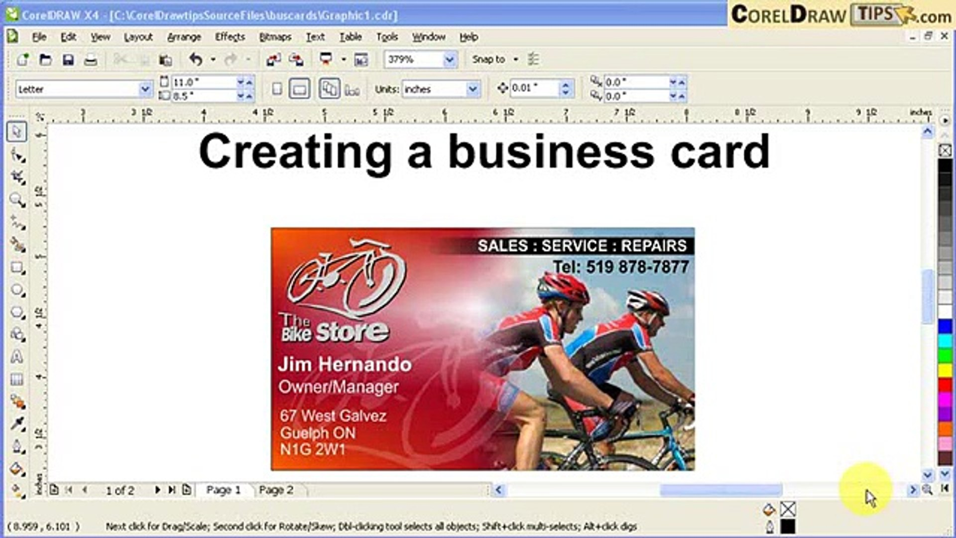 Designing Business Cards In Coreldraw X4 Video Dailymotion