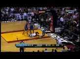 David Lee flagrant foul on LeBron