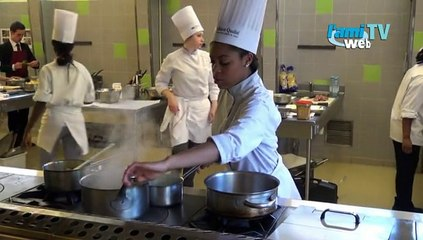Les lycéens cuisinent pour Marc Haeberlin