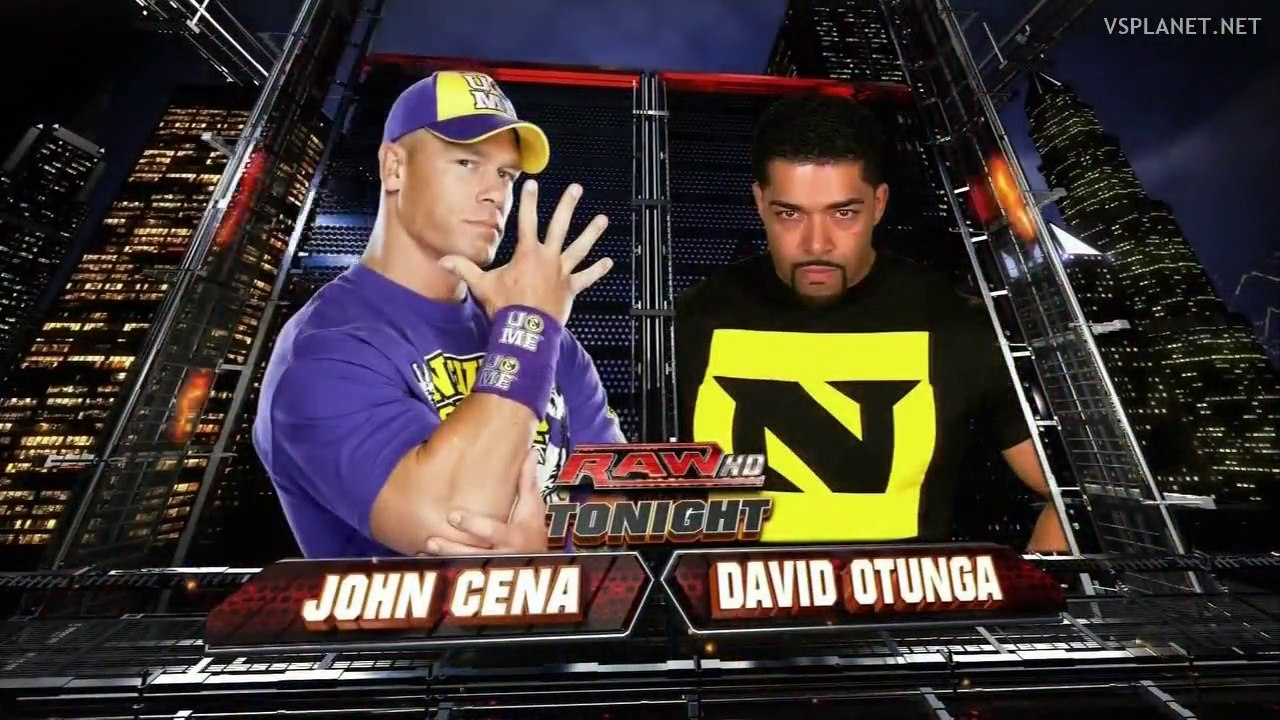 John Cena Vs David Otunga Wwe Monday Night Raw 13122010