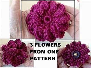 Crochet Flowers 3