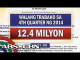 SWS survey: 12 million Filipinos remain jobless