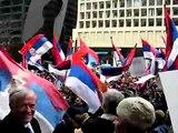 3/01/08 Chicago Serbian Protest Kosovo je srbija Kosovo serb