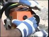 Chainsaw Air Injection Demonstration Husqvarna/Stihl