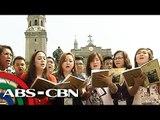 Mga aawit sa misa ng Papa sa Manila Cathedral