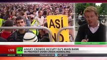 Frankfurt BLOCKUPY PROTESTERS target European Central Bank over financial CRISIS