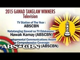 ABS-CBN wins big at 2015 Gawad Tanglaw