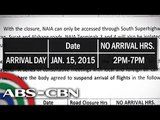 NAIA flights to be affected by Pope's visit