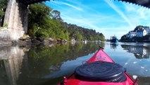 Lar rivière d'Auray en kayak