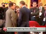 """Presidente Barack Obama se despide de su homologo Hugo Chavez """"Adios Amigo"""" """"Bye bye my friend"""""""