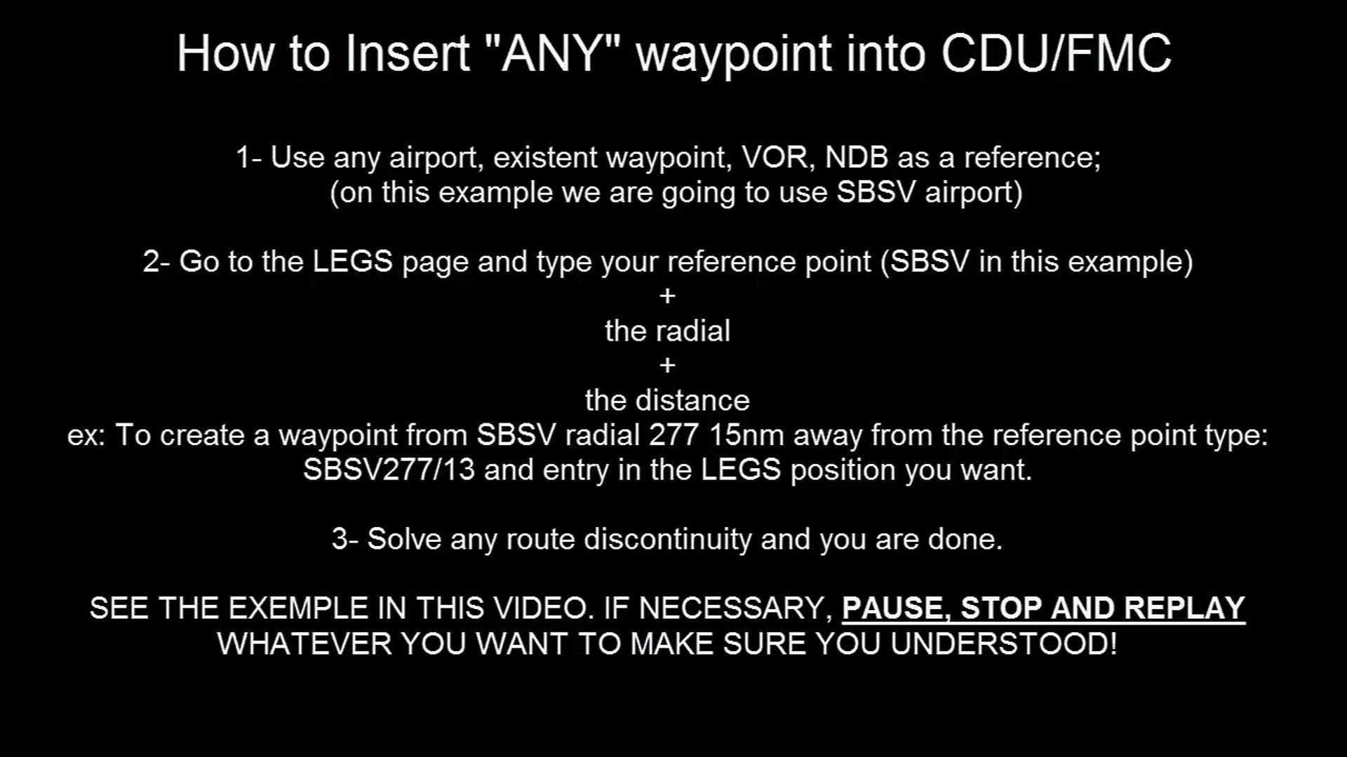 PMDG 737-800 CDU-FMC Lesson - Inserting ANY FIX