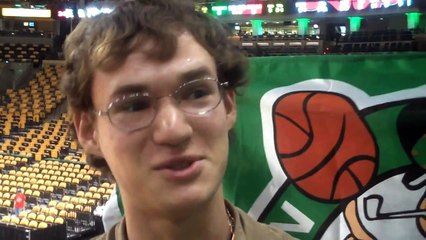 "EXCLUSIVE Interview with Celtics Game Sensation-Guy who Dances to ""Livin' on a Prayer"""