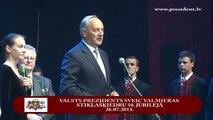 Valsts prezidents sveic Valmieras stikla šķiedras rūpnīcas 50.gadadienā 26/07/2013