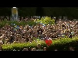 The Swedish anthem at the Swedish royal wedding 19th June 2010