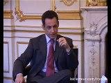 Loic Lemeur et Nicolas Sarkozy