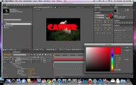 After Effects - Motion Tracking w/Text Compositing