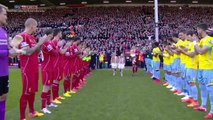 Steven Gerrard walks onto Anfield pitch for final time to an amazing response from fans