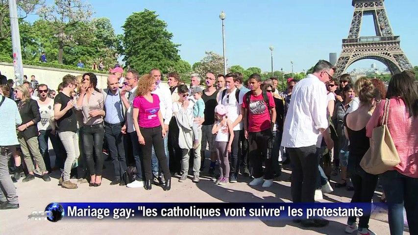"""Mariage gay: """"les catholiques vont suivre"""" les protestants"""