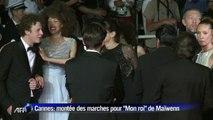 """Cannes: montée des marches pour """"Mon roi"""" de Maïwenn"""