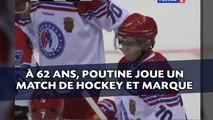 Vladimir Poutine joue un match de hockey sur glace et marque des buts
