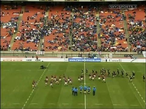 New Zealand 'Black Ferns' haka — 2006 women's World Cup — The Final