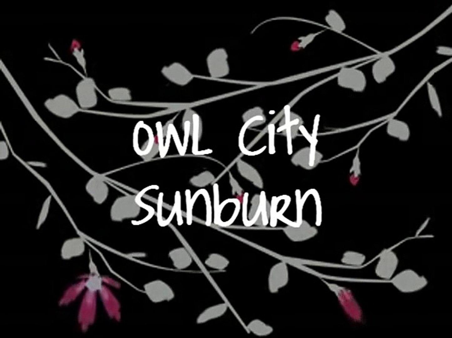 Owl City Sunburn Lyrics