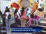 Tomadas las escuelas normales de Michoacán. Alumnos rechazan la Reforma Educativa Curricular