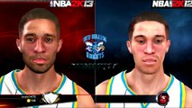 NBA 2K13 vs NBA 2K12 Face Comparisons