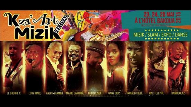 K'ZA Art Mizik Festival 23, 24 et 25 mai 2015 Hotel Bakoua/tropikprod