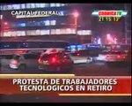 Entrevista de Crónica TV durante el acto de protesta en IBM Catalinas (26 de agosto de 2010)