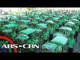 Yolanda survivors receive new pedicabs