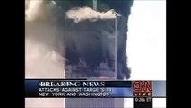 Attentats 11 septembre 2001 WTC 9/11 - Chute WTC1 (C*N*N en direct - 10H28 le 11/09/2001)